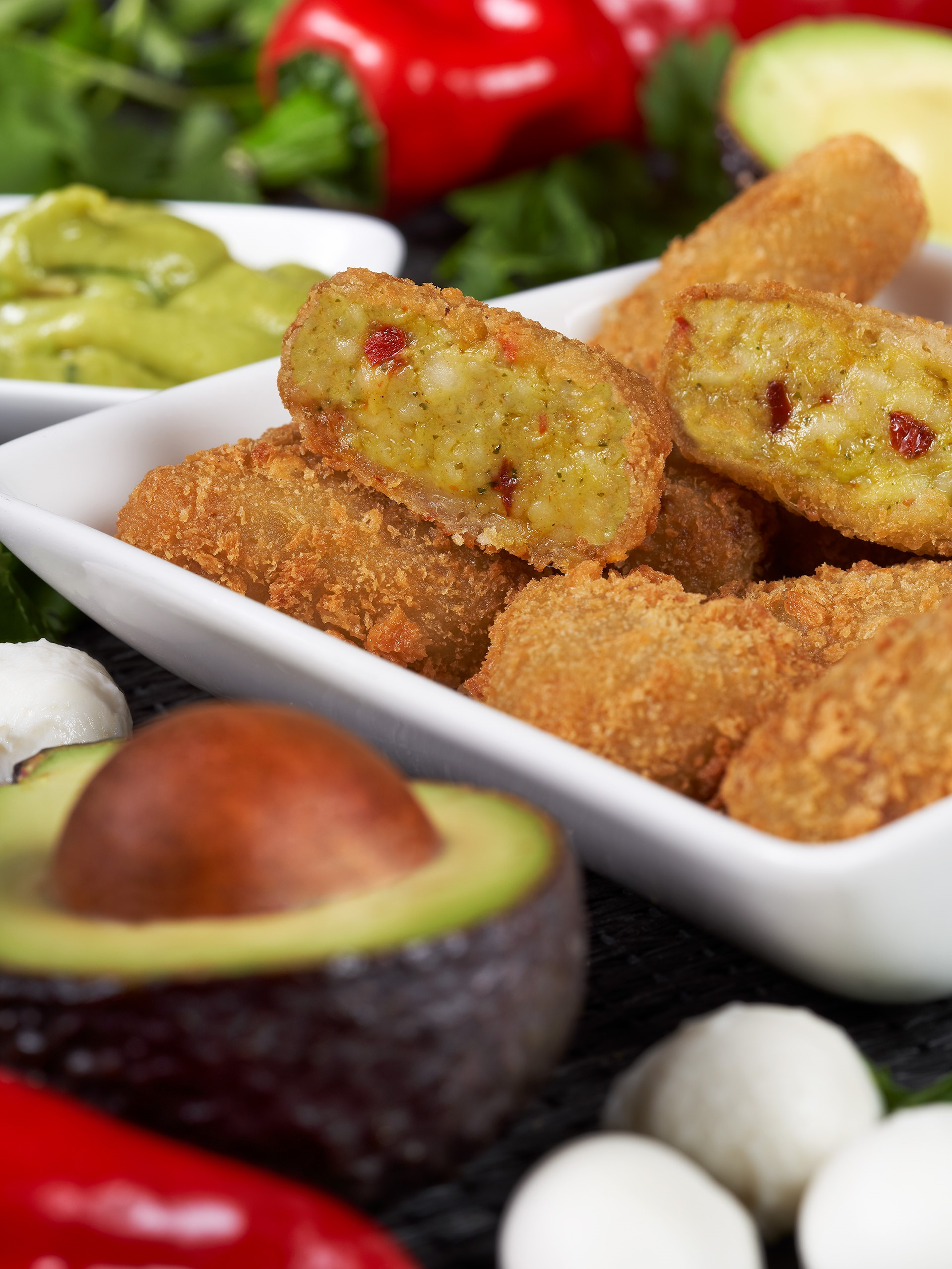 Avocado Mozzarella Bites
