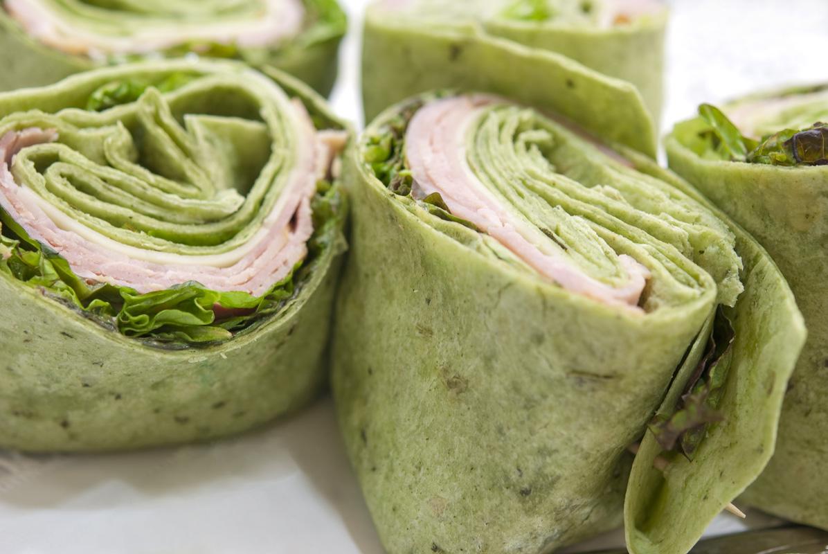 Spinach tortilla basil Ø30cm