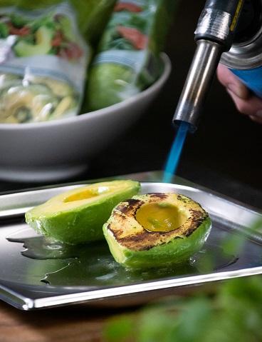 Roasted & stuffed half avocados