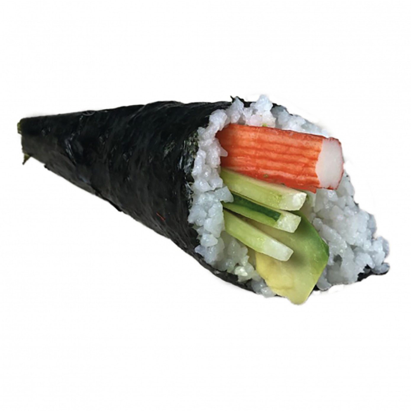Sushi roll with crabmeat