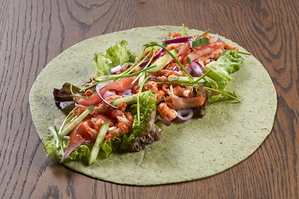 Avocado wraps with grayfish