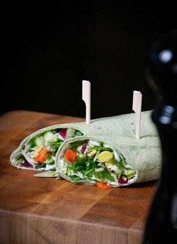 Wrap vegetable-style